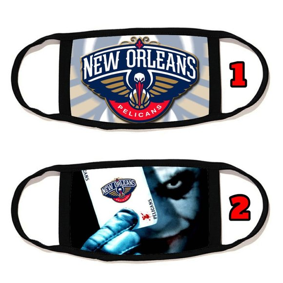 2 PACKS New Orleans Pelicans face mask face cover